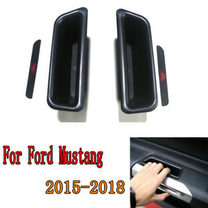 2pcs Car Door Handle Container Holder Storage Box For Ford Mustang MKVI 2015-19