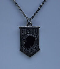 POW / MIA Pendant Necklace Military Veteran War Hero You are not forgotten Badge