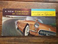 1956 Chevy Corvette sales Brochure Old Booklet Book Catalog Original