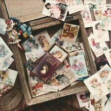 100Pcs/Set Vintage Paper Card Collection Of Books Retro Style Boxed Stickers .s