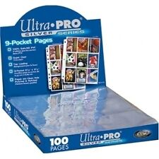 Ultra Pro Silver Series 9 Pocket Trading Card Pages Box 100 - Brand new!