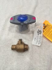 """Lot Of (2) NIBCO S-585-70-NS Two-Piece Bronze Ball Valve 1/2"""" solder  Full Port"""