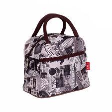 Newspaper Clutch Women's Waterproof Tote Shopping Lunch Box Bag Handbag