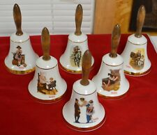 Norman Rockwell School Days Bell Collection, Set of 6 Bells