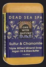 Uno con la naturaleza Dead Sea Spa azufre & Manzanilla mineral Jabón 7 Oz Bar