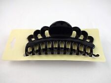 Jumbo hair clip claw black plastic 5.25 inches long super size