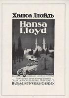 BREMEN, XXL Werbung 1916, Hansa Lloyd Werke, Oldtimer, car, voiture, Reklame