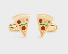 PAUL SMITH Men's Cufflinks Fun Pizza Slices Gold New In Box w/Tag ($125 USD)