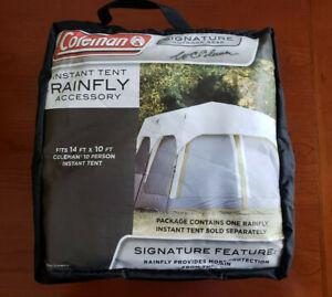 Coleman Rainfly Instant 8 Person Tent Accessory,Cream Black Case 14x10-Feet