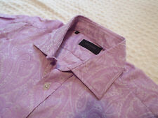 "DUCHAMP Mens Shirt 🌍 Size 16"" (CHEST 42"") 🌎 RRP £145+📮FLORAL PAISLEY JACQUARD"
