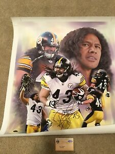 Troy Polamalu Autographed Signed Pittsburgh Steelers 20x24 Canvas Steiner Sports