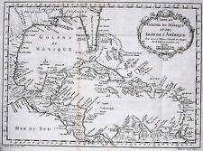 Antique map, Carte du Golphe du Mexique et des isles de l'Amerique