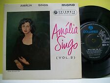 "7"" VINYL 45 R.P.M. EP. Amalia Sings (Vol. 2) by Amalia Rodrigues. EMI. SEGC 49."