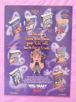 1999 Magazine Advertisement Page Featuring Walmart Halloween Videos Ad