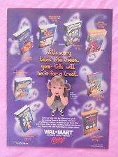 1999 Magazine Advertisement Page Featuring Walmart Halloween Videos Ad
