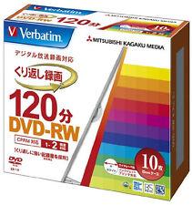 10 Verbatim Japan Blank DVD-RW DVD Discs 120min 4.7GB White label VHW12NP10V1