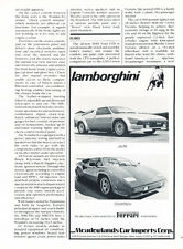 1983 Lamborghini Jalpa And Countach Classic Vintage Advertisement Car Ad J15
