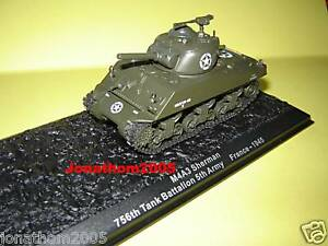 Char - Tank M4A3 Sherman 756th Battalion 5th Army - France 1945 to the / Of 1