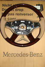 MERCEDES VOLANTE IN LEGNO w216 CL Classe S w221 a2214603103 steehring WEELS Wood