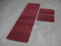 Caravan/Motorhome Interior Floor Carpet Mats - BURGUNDY Various Sizes Available