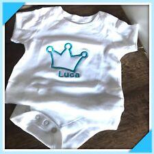 Baby Body❤️Krone❤️ bestickt m. Wunschname Geschenkidee für Baby's zur Geburt