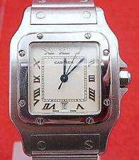 Original Cartier Santos Herren Uhr in Edelstahl