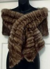 FENDI/HUDSON BAY SABLE  Genuine Fur Scarf Wrap