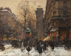Eugene Galien Laloue Porte Saint Martin Canvas Print 16 x 20   # 6374