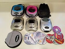 2004 Video Now Color Personal Video Player Lot---3 Players, 11 Movies, Cases,