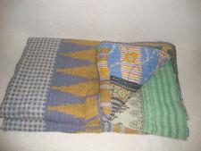 Queen Size Vintage Kantha Quilt Throw Blanket Bedspread Bohemian Bedding QM3892