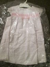 BNWT BEAUTIFUL COCO BABY GIRLS DRESS WHITE & PINK FULLY LINED 24 MONTHS