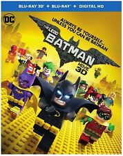 The LEGO Batman Movie (Blu-ray Disc, 2017, Includes Digital Copy 3D) NEW