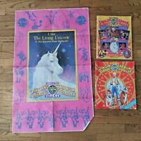 Ringling Bros Barnum & Bailey Circus Program Poster Lot 1984 1985 1989 Vintage