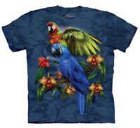 Parakeet Birds Parrot Tropical Friends Blue The Mountain T-Shirt Adult S-3X