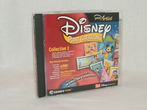 Disney Print Creations Collection I Create Projects Stickers Cards PC CD Mickey
