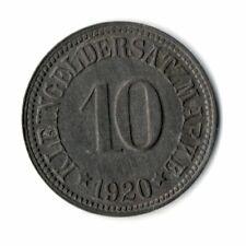 10 Pfennig 1920 Münchberg Notgeld Zink Funck 346,8 - Erhaltung - (not1n059)