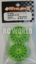 RC Car 1/10 DRIFT WHEELS RIMS Adjustable Offset  3mm-6mm-9mm -GREEN MESH -4 RIMS