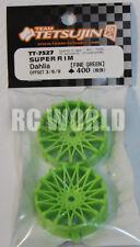 RC Car 1/10 DRIFT WHEELS RIMS Adjustable Offset  3mm-6mm-9mm -GREEN MESH -4 RIMS