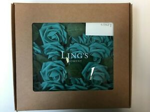 Ling's moment Rose Artificial Flowers 25pcs  Turquoise Green