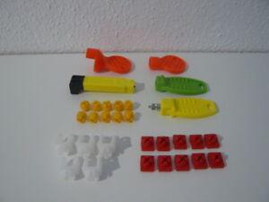 Playmobil Verbinder Rot Gelb Weiß Schlüssel X-System Gebäude Zubehör Ersatzteile