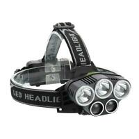 3x T6+2x XPE LED Headlight 6 Modes Rechargeable Head Lamp Torch Flashlight TN2F