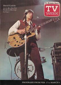 David Cassidy Partridge Family TV Week Philadelphia Inquirer Listings Magazine
