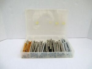 Lot VINTAGE Assorted Fly & Fishing Rod Building Ferrules Parts Plano Case  #99
