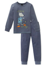 Schiesser Schlafanzug Pyjama Jungen grau Gr.104-140 NEU  2019
