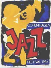 Original vintage poster JAZZ FESTIVAL COPENHAGEN DENMARK 1984