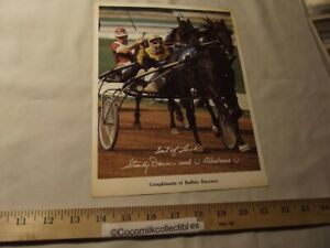 1976 Photo Give A Way Buffalo Raceway Harness Racing Albatross Stanley Dancer