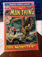 Adventure into Fear Early Man Thing   Bronze age Marvel  5 Book Lot.