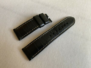 Panerai 24mm Alligator Leder Armband crocodile strap bracelet 24/22 mm