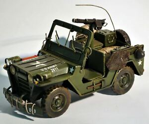 VINTAGE US ARMY 2L 2611 ALL STEEL ARMY JEEP HOME/OFFICE DECORATION DECOR GIFT