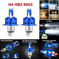 H4 9003 LED Headlight Conversion Kit Hi Low Beam 80w 6000K HID White Light Bulbs